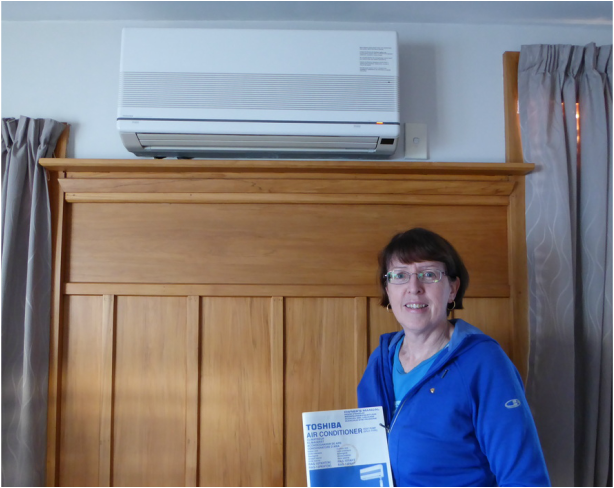 Lynne had her 17 year old Toshiba heat pump serviced in Christchurch by Heat Pumps NOW