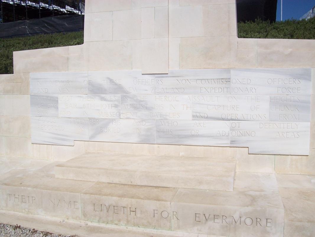 The New Zealand Cenotaph at Chunuk Bair, Gallipoli