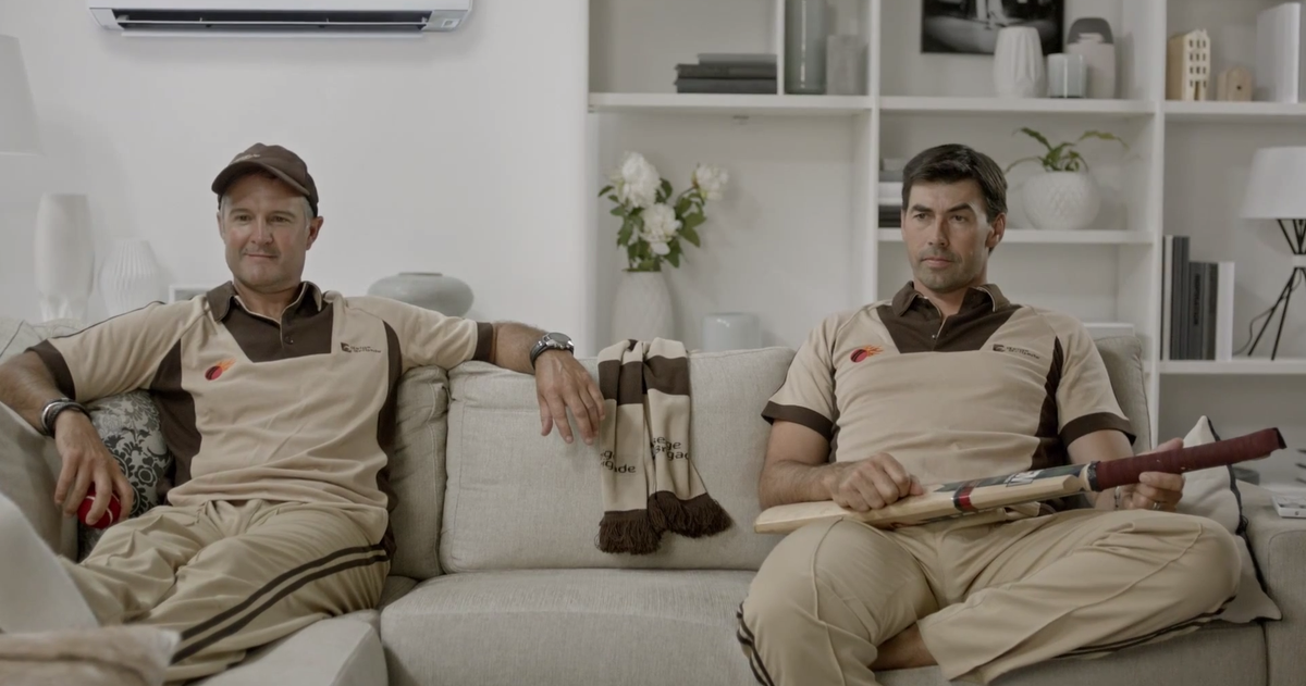 Stephen Fleming promoting Fujitsu heat pumps
